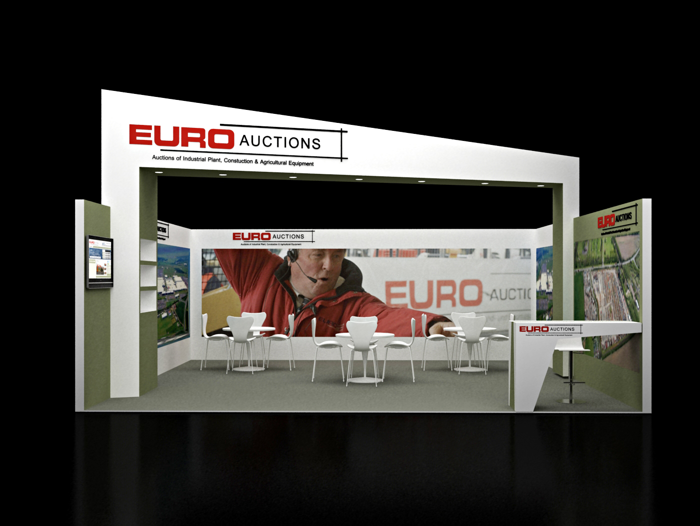 Stand build at Mobile World Congress